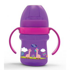 Baby Safe AP005 Cup Soft Spout 125 ml Ungu ( Jerapah )