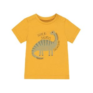 Mothercare Yellow Super Dinosaur T-shirt