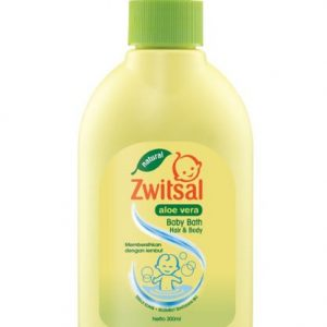 Zwitsal Natural Aloe Vera Baby Bath 2 In 1 Hair & Body 300 ml