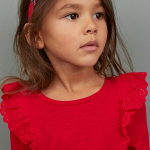 H&M Kids Jersey Top With Flounces
