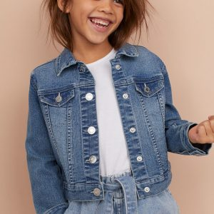 H&M Kids Appliquéd Denim Jacket