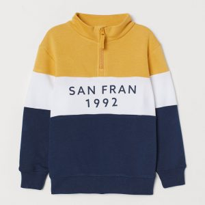 H&M Kids Stand-up Collar Sweatshirt