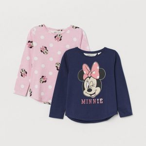 H&M Kids Minnie 2-pack Jersey Tops