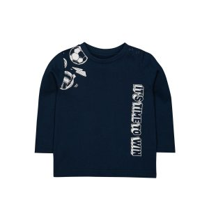 Mothercare Navy Football T-shirt