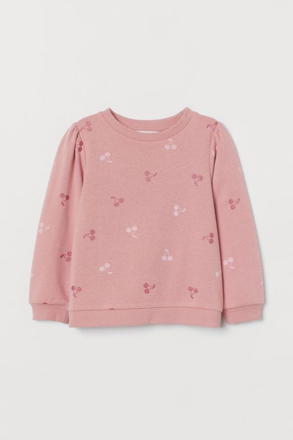 H&M Kids Puff-sleeved Sweatshirt