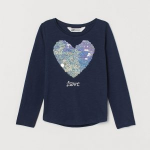 H&M Kids Top With Sequins