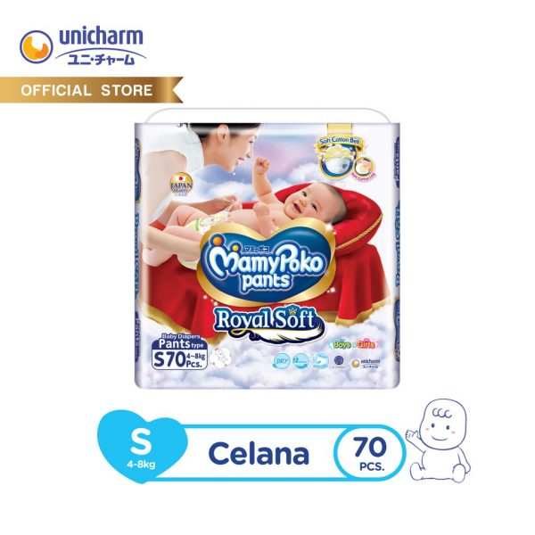 MamyPoko Pants Royal Soft -S 70 - Popok Celana