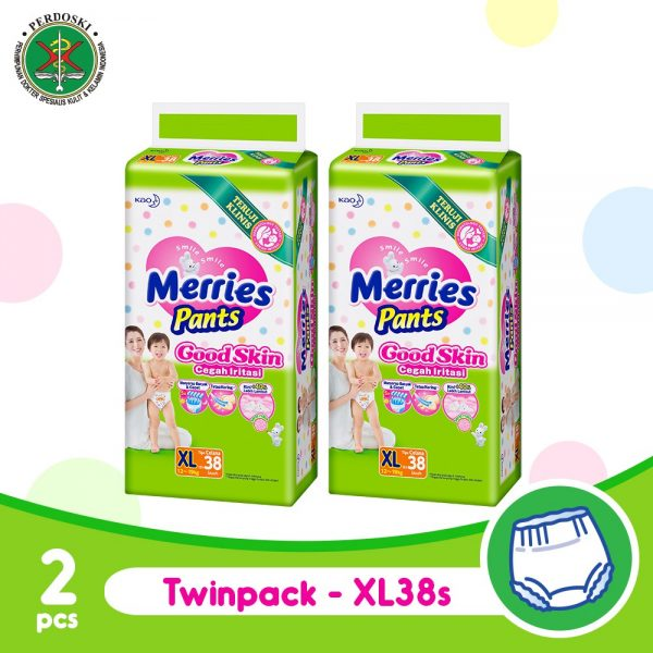 Merries Pants Good Skin XL 38'S - Twinpack