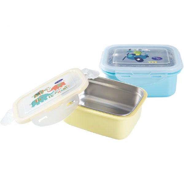 Stainless Lunch Box Square 360 ml
