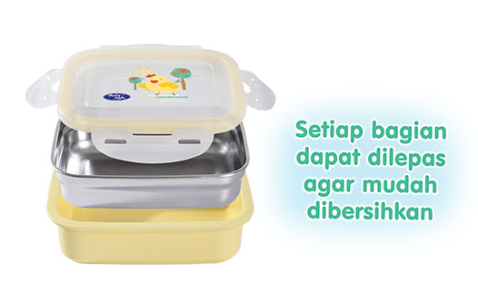 Stainless Lunch Box Square 270 ml
