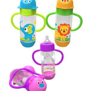 Wide Neck Feeding Bottle with Handle 250 ml