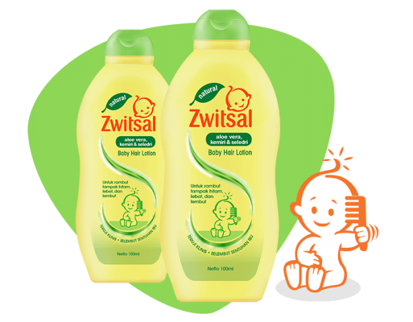 Zwitsal Hair Lotion Aloe Vera Kemiri Seledri 100 ml