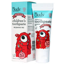 Buds Organics BOO - Toothpaste With Xylitol Strawberry 50ml