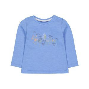 Mothercare Blue Floral Happy Day T-shirt