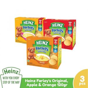 Heinz Paket Farley's Original, Apple & Orange 120G - 3 Pcs