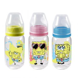 Botol PP SP Round 120 ml SO - Edisi Spongebob
