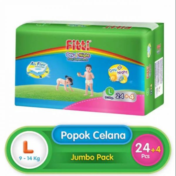 Fitti Day & Night Jumbo Pack L 24 (Extra 4 Pcs)