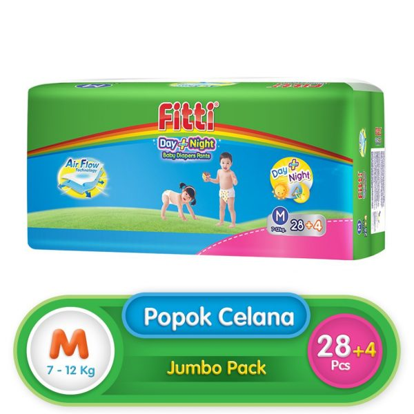 Fitti Day & Night Jumbo Pack M 28 (Extra 4 Pcs)