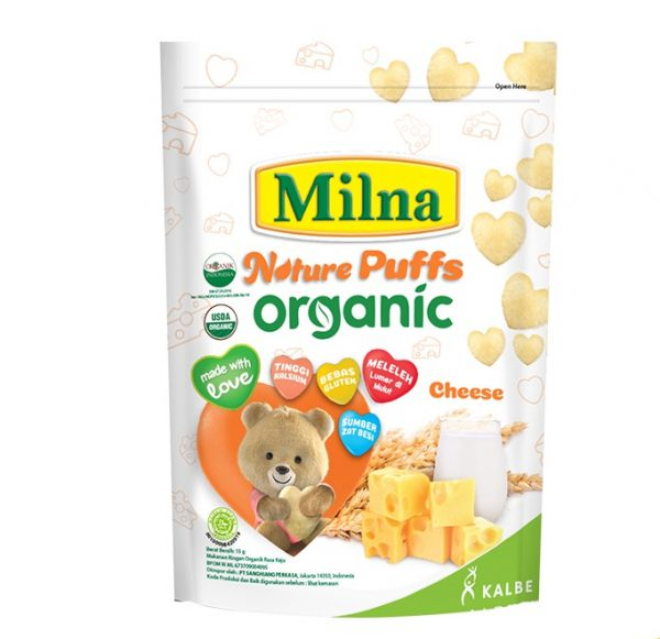 Milna Nature Puff Organic Cheese 15 G