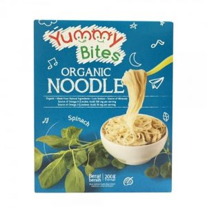 Organic Noodles Yummy Bites Spinach 200g