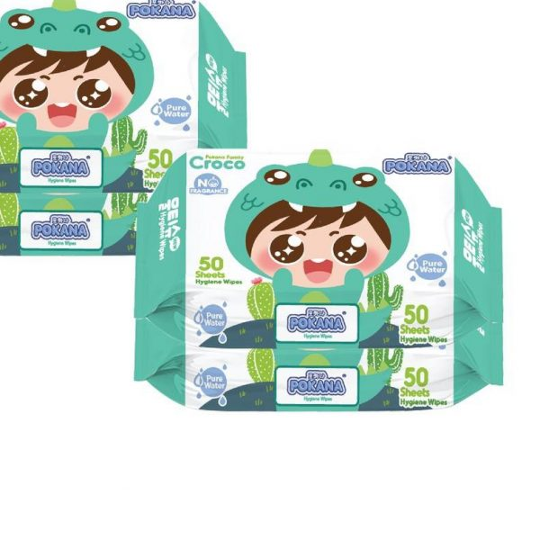 Pokana Hygiene Wipes - Croco x 4 Pack