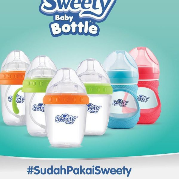 Sweety Baby Bottle Pink Glass 150 mL