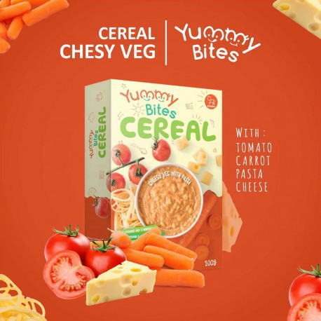 Yummy Bites Cereal Chessy Veg With Pasta 100gr